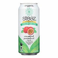 Steaz Unsweetened Green Tea - Passion Fruit - Case of 12 - 16 Fl oz.