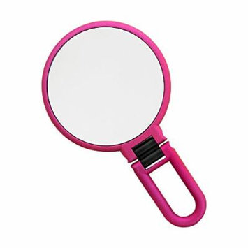 Danielle Soft Touch 10X Magnification Metallic Hand Held Mirror, Vintage Rose