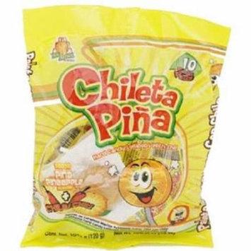 Product Of El Azteca, Chileta Lollipops Pina W/Chili - Bag, Count 10 - Sugar Candy / Grab Varieties & Flavors