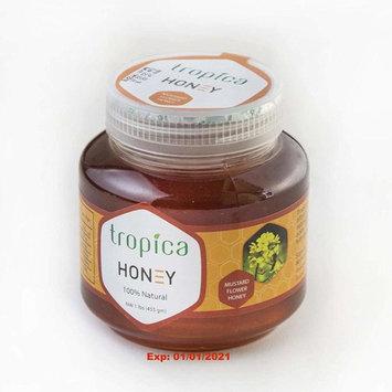 Tropica Honey - 100% Mustard Flower Natural Honey - Healthy, Organic an Pure - Gluten, Antibiotics, Additives Free – Non-GMO – Collected from Wild Flower Nectar – Vegan Friendly – 1 Pound [Mustard Flower]