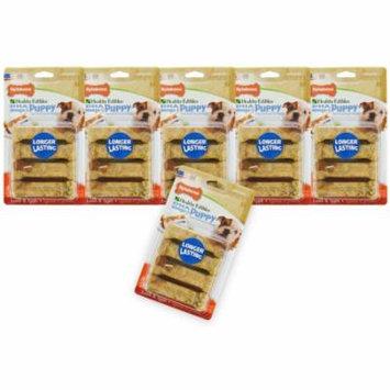 Nylabone Healthy Edibles For Puppies Lamb Apples - Petite BULK - 48 Treats - (6 x 8 Packs)
