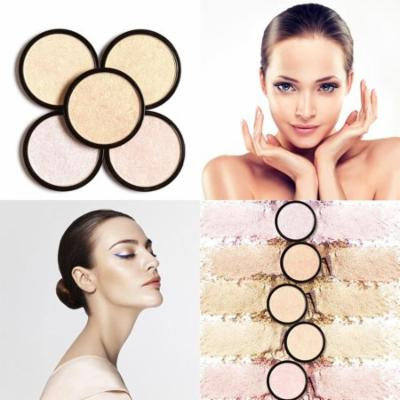 Highlighter Single Brightening Face Squeezed Highlighter Powder Face Shimmer Makeup Tool HDPML
