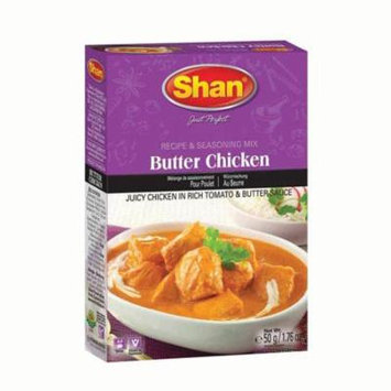 Shan Premium Butter Chicken Masala Recipe & Seasoning Mix, Indian Food Spices (pk of 6)