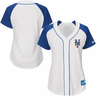 New York Mets Majestic Women's Fashion Replica Jersey - White - XXL