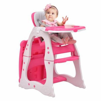 3 in 1 Baby High Chair Convertible Play Table Seat Booster Toddler Feeding Tray Pink
