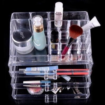 Luxury Acrylic Cosmetic Organizer Makeup Box 3 Drawers 1304 Top and Bottom Set by Beauty Acrylic