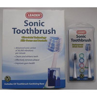 Leader Sonic Toothbrush Bundle with 2 Replacement Brush Heads (SAVE $$$ with Bundle)