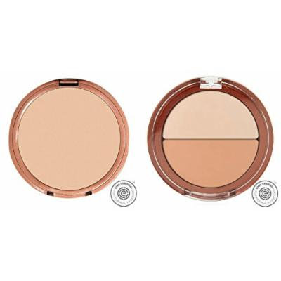Mineral Fusion Pressed Powder Foundation Neutral 2 and Mineral Fusion Compact Concealer Duo Neutral Shade Bundle with Licorice Root Extract and Shea Butter, 0.32 oz. and 0.11 oz. each