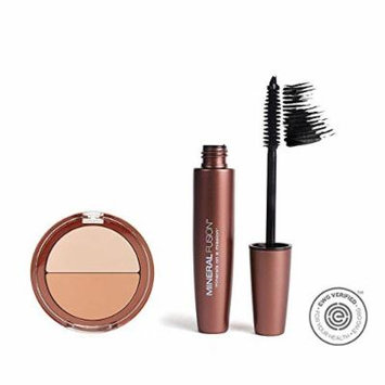 Mineral Fusion Neutral Mineral Concealer Duo and Graphite Natural Lengthening Mascara with Shea Butter, Safflower Oil, and Rooibos Red Tea Leaf Extract