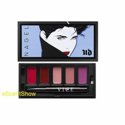 UD Urban NAGEL Vice Lipstick Limited Edition UNTITLED Palette: Doubt + Gash + Naked + Backtalk + Exhibition
