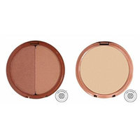 Mineral Fusion Bronzer Duo (Luster) and Pressed Powder Foundation (Warm 2) Bundle with Vitamin C, Aloe Vera, Sea Kelp, Rooibos Red Tea, White Tea and Pomegranate