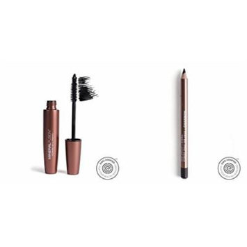 Mineral Fusion Graphite Lengthening Mascara and Coal Eye Pencil Bundle With Cotton, Protein, Seed Oil, Flower Extract and Mango