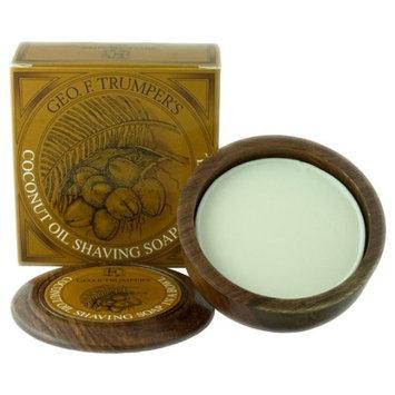 Geo F. Trumper Coconut Oil Shaving Soap in Wooden Bowl