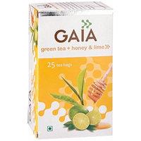 Gaia Green Tea Honey & Lime 25 Tea Bags
