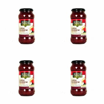 (4 PACK) - Seeds/Ch Bolognese Pasta Sauce| 500 g |4 PACK - SUPER SAVER - SAVE MONEY