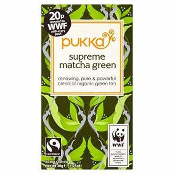 (10 PACK) - Pukka Supreme Green Matcha WWF Tea  20 het sachets  10 PACK - SUPER SAVER - SAVE MONEY