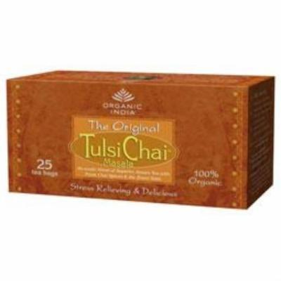 (12 PACK) - Organic India - Org Tulsi Chai | 25 Bag | 12 PACK BUNDLE