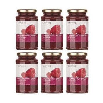 (6 PACK) - Clearspring - Org Fruit Spread Raspberry | 290g | 6 PACK BUNDLE