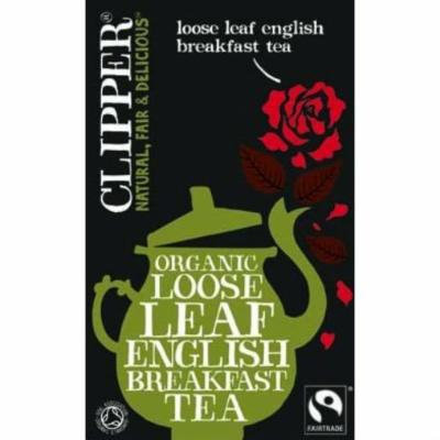 (12 PACK) - Clipper - Organic English Breakfast Tea | 125g | 12 PACK BUNDLE
