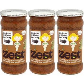 (3 PACK) - Zest - Tom Mush G Pepper Pasta Sauce | 340g | 3 PACK BUNDLE