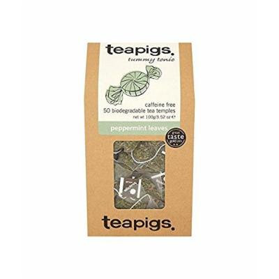 (6 PACK) - Teapigs Peppermint Leaf Tea Temples| 50 Bags |6 PACK - SUPER SAVER - SAVE MONEY