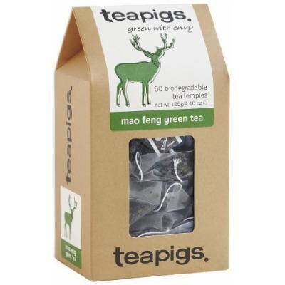 (8 PACK) - Teapigs Mao Feng Green Tea Temples| 50 Bags |8 PACK - SUPER SAVER - SAVE MONEY