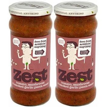 (2 Pack) - Zest - Tom Mushroom Garlic Pasta Sauce | 340g | 2 PACK BUNDLE