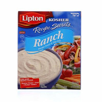 Lipton Soup and Dip Mix - Recipe Secrets - Ranch - Kosher - Packet - 2.4 oz - case of 12 - - - - - -
