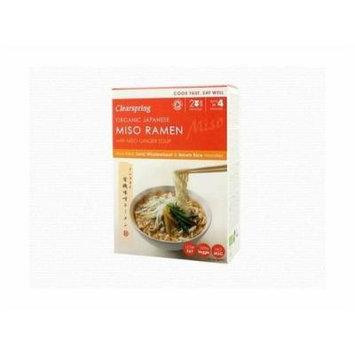 (12 PACK) - Clearspring Japanese Miso Ramen Noodles & Miso Ginger Soup| 170 g |12 PACK - SUPER SAVER - SAVE MONEY