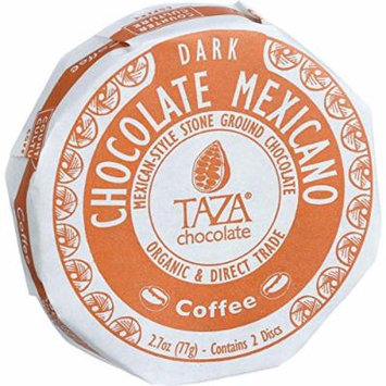 Taza Chocolate Organic Chocolate Mexicano Discs - 55 Percent Dark Chocolate - Coffee - 2.7 oz - Case of 12-95%+ Organic-Gluten Free-Dairy Free - Wheat Free-