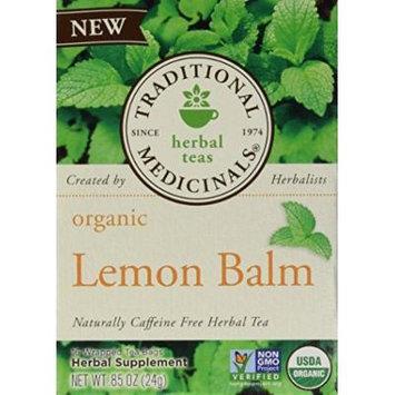 Traditional Medicinals Organic Herbal Tea Lemon Balm -- 16 Tea Bags by Traditional Medicinals