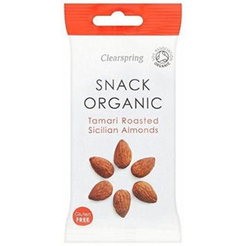 (12 PACK) - Clearspring Tamari Roasted Sicilian Almonds - Organic | 30 x 15g x | 12 PACK - SUPER SAVER - SAVE MONEY