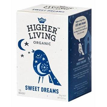 Higher Living, Organic Sweet Dreams Tea, 15 Count Tea Bags, Pack of 4