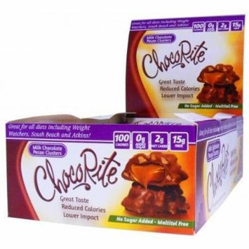 ChocoRite - High Protein Diet Bar | Milk Chocolate Pecan Clusters | Low Calorie, Low Fat, Sugar Free ( 16/Box )