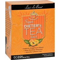 2 Pack of Laci Le Beau Super Dieter s Tea Apricot - 60 Tea Bags - Supports Weight Loss Efforts - Helps Eliminate Impurities