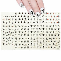 Wrapables Tattoos Water Nail Decals (11 Designs), Black Cats