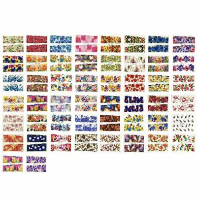 Wrapables Colorful Floral Art Water Nail Decal (50 Sheets)