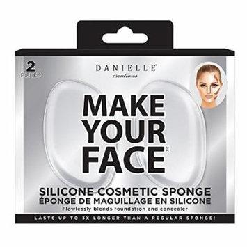Danielle 2 Count Make Your Face Silicone Makeup Sponges, 2 Piece