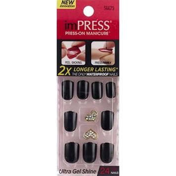 NEW 2015 KISS imPRESS TEXT APPEAL 2x Longer Lasting Short Nails by Broadway Press-On Manicure Nails by Broadway