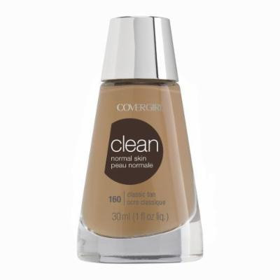 CoverGirl Clean Liquid Makeup, Classic Tan (W) 160, 1.0-Ounce Bottles (Pack of 2) by COVERGIRL