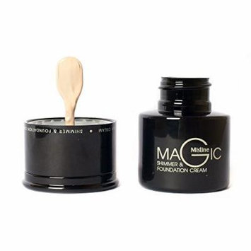 Mistine Makeup Magic Matte Look Face Foundation Cream F1 Light Skin + Shimmer