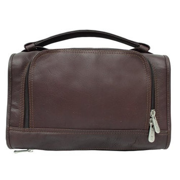 Piel Leather Half-Moon Utility Kit, Chocolate, One Size