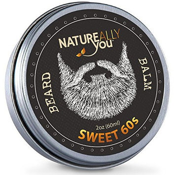 NATUREALLY YOU© - Beard Balm - The Sweet 60s Scent - (2 oz) - Condition, Smooth, Soften, Tame, Remove Beard Itch