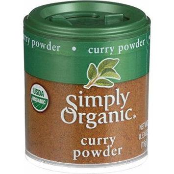 Simply Organic Curry Powder - Organic - .53 oz - Case of 6 - 95%+ Organic - Gluten Free - Dairy Free - Yeast Free - Wheat Free - Vegan