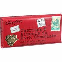 Chocolove Xoxox Premium Chocolate Bar - Dark Chocolate - Cherries and Almonds - 3.2 oz Bars - Case of 12