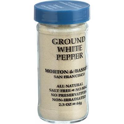 Morton and Bassett Seasoning - Pepper - Ground - White - 2.3 oz - Case of 3