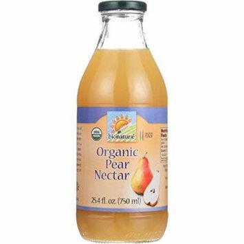 Bionaturae Fruit Nectar - Orangic - Pear - 25.4 oz - case of 6 - 95%+ Organic -