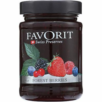 Favorit Swiss Preserves - Forest Berries - 12.3 oz - case of 6 - Jams prepared with 52% fruit