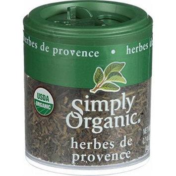 Simply Organic Herb de Provence - Organic - .14 oz - Case of 6 - 95%+ Organic - Gluten Free - Dairy Free - Yeast Free - Wheat Free - Vegan