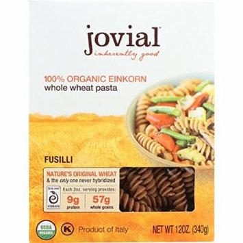 Jovial Pasta - Organic - Whole Grain Einkorn - Fusilli - 12 oz - case of 12 - 100% Organic - Dairy Free - Vegan